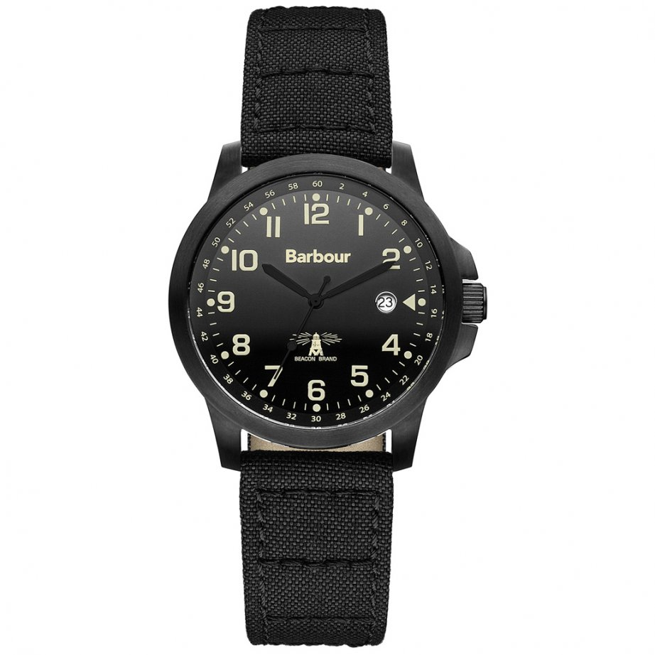 bb020bkbk barbour black canvas available at tic watches