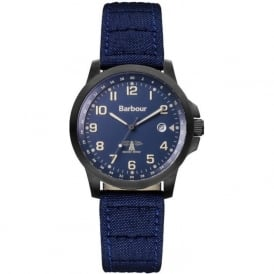 Barbour BB020BKNV Swale Mens Blue Fabric Watch