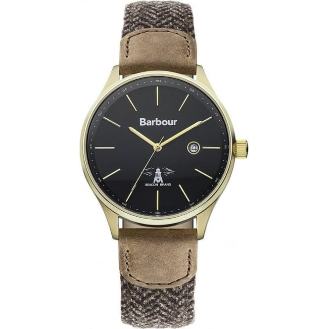 Barbour BB021GDHB Glysdale Mens Brown Fabric Watch