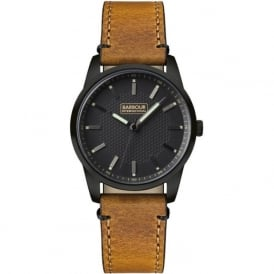 Barbour BB026BKTN Jarrow Mens Brown Leather Watch