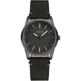 Barbour BB026GNBK Jarrow Mens Black Leather Watch