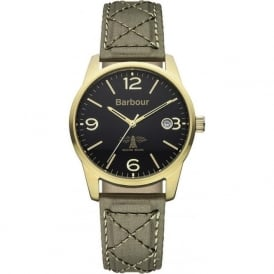 Barbour BB026GRGR Alanby Mans Brown Leather Watch
