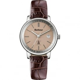 Barbour BB032SLBR Holywell Mens Brown Textured Leather Watch