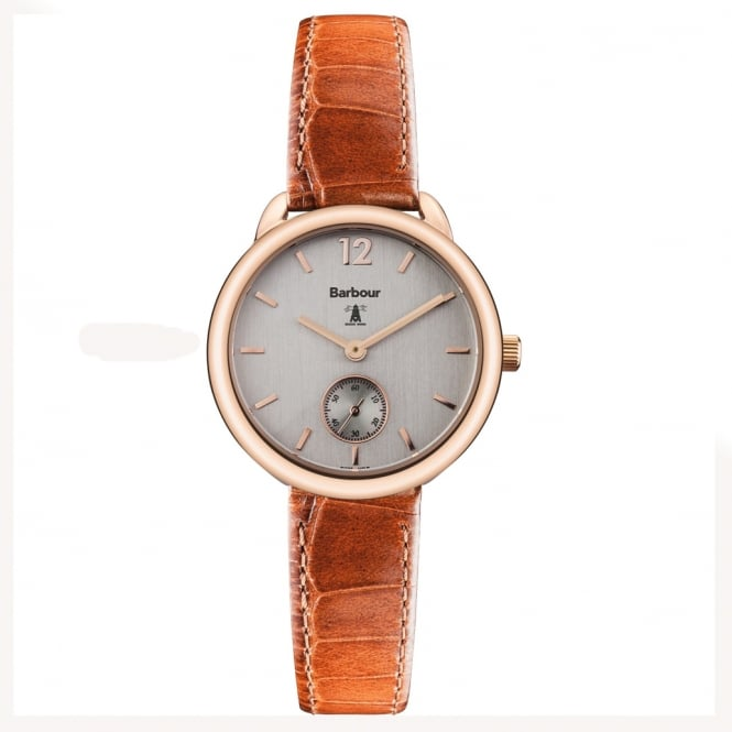 Barbour BB035RSTN Whitley Brown Leather & Rose Gold Ladies Watch