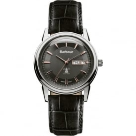 Barbour BB036SLBK Gosforth Mens Black Leather Watch