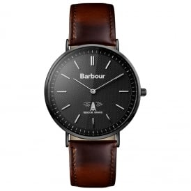 BB055BKBR Hartley Brown & Black Mens Leather Watch