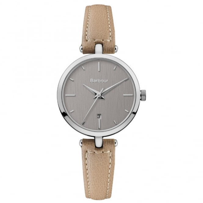 Barbour BB071SLBG Adeline Beige & Silver Leather Ladies Watch