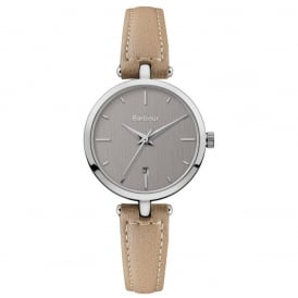 BB071SLBG Adeline Beige & Silver Leather Ladies Watch