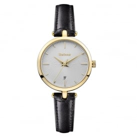 BB071SLBK Adeline Black & Gold Leather Ladies Watch