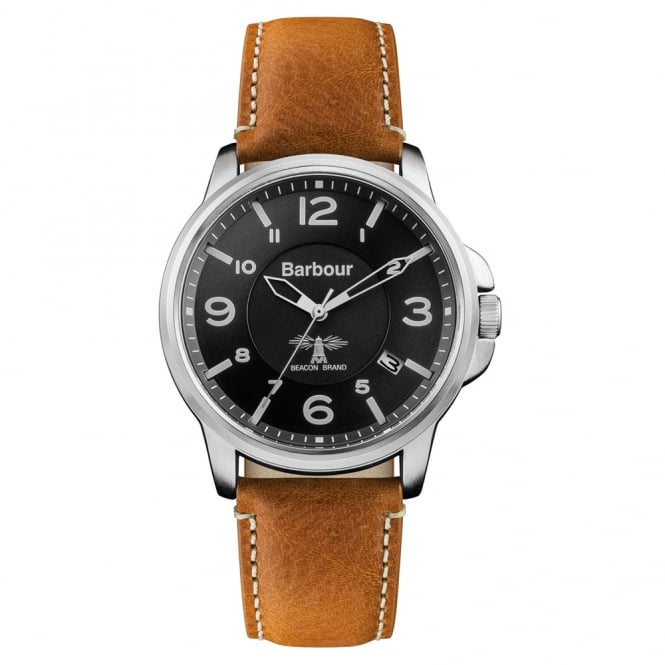 Barbour BB072BKBR Barnard Brown Leather Men's Watch