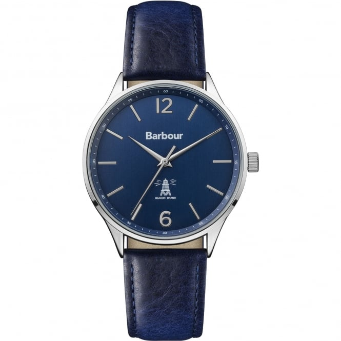Barbour BB079BLBL Jesmond Stainless Steel Silver & Blue Leather Men's Watch