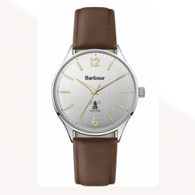 BB079SLBR Jesmond Stainless Steel Silver & Brown Leather Watch