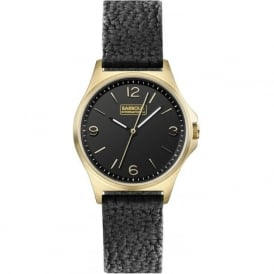Barbour BB007BKBK Hebburn Womens Black Leather Watch