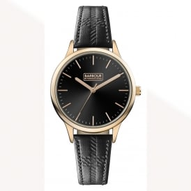 International BB058RSBK Embleton Unisex Black & Rose Gold Leather Watch