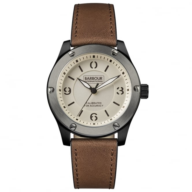 Barbour International BB063SLBR Mens Leather Watch