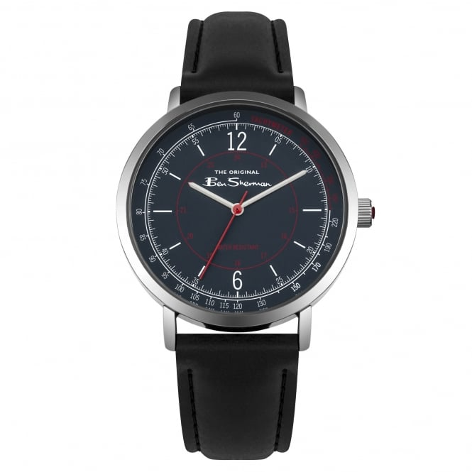 Ben Sherman BS006UB Navy & Black Leather Men's Watch