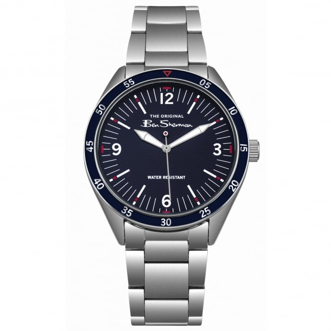 Ben Sherman BS007USM Navy & Silver Stainless Steel Men's Watch