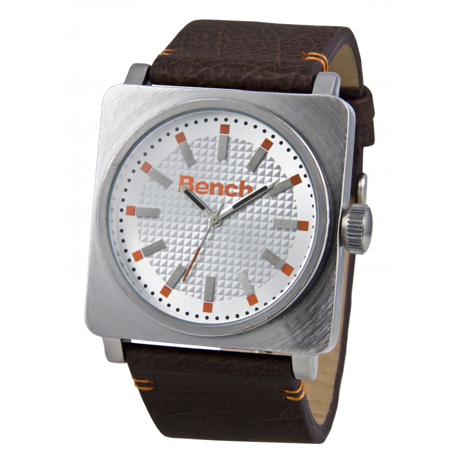bench watch mens brown leather watch bc0301slbr from