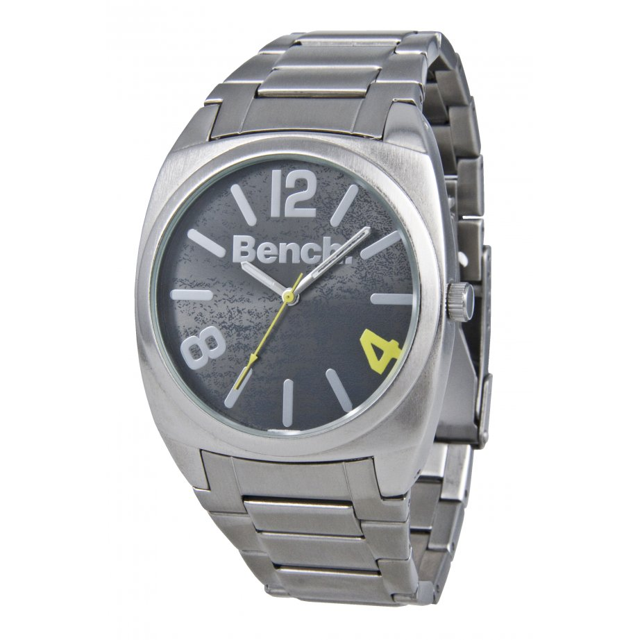 bench mens silver stainless steel bc0267bksl from