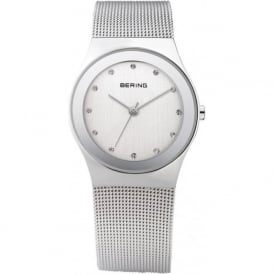 Bering 12927-000 Silver Stainless Steel Mesh Ladies Watch