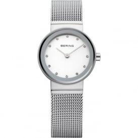 Bering 10122-000 Ladies Silver Sapphire Steel Mesh
