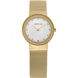 Bering 10126-334 Womens Gold Stainless Steel Mesh