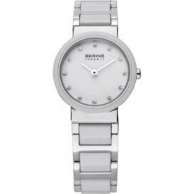 Bering 10725-754 White & Silver Ceramic Stainless Steel