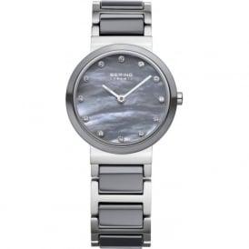 Bering 10725-789 Ladies Grey & Silver Ceramic Stainless Steel