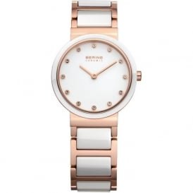 Bering 10729-766 Ladies White & Gold Stainless Steel