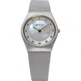 Bering 11927-004 Ladies Silver Stainless Steel Mesh Band
