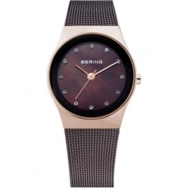 Bering 12927-262 Ladies Brown Stainless Steel Mesh