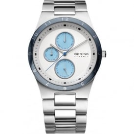 Bering 32339-707 Mens Silver Ceramic Stainless Steel Case