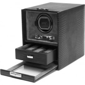 Blake Black Lizard Leather Single Watch Winder