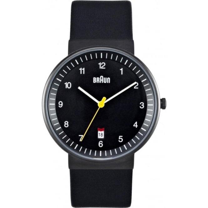 Braun Watches Black Leather Mens Watch BN0032BKBKG