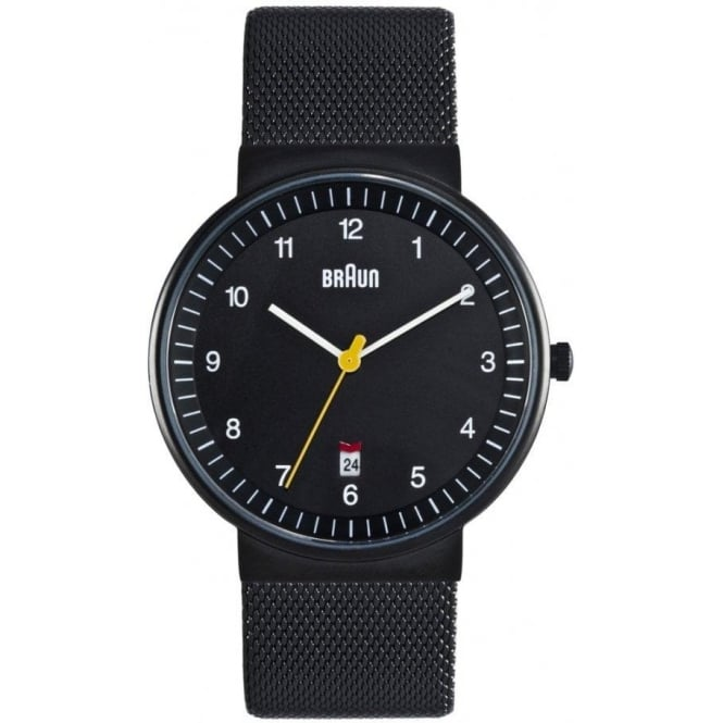 Braun Watches Black Mesh Mens Watch BN0032BKBKMHG