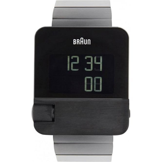Braun Watches Black Stainless Steel Mens Digital Watch BN0106BKBTG