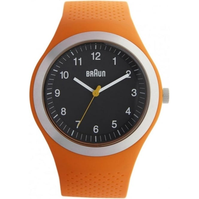 Braun Watches Mens Orange Silicon Watch BN0111BKORG