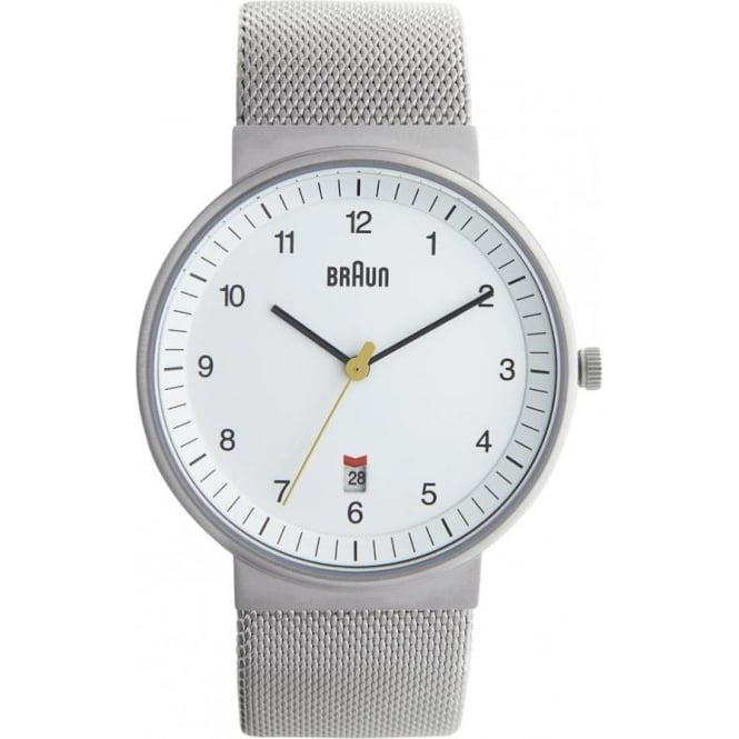 Braun Watches Silver Mesh Mens Watch BN0032WHSLMHG