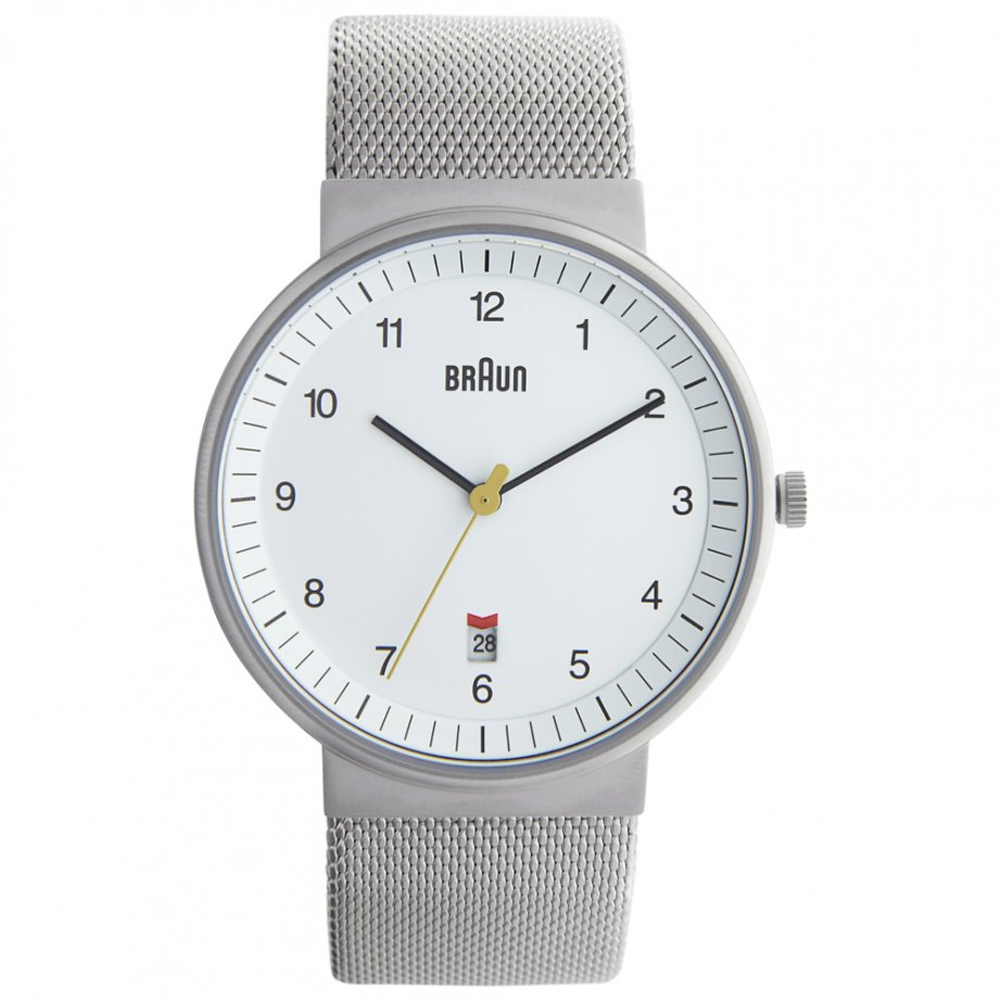 Braun watch silver mesh bn0032whslmhg buy mens braun for What watch to buy