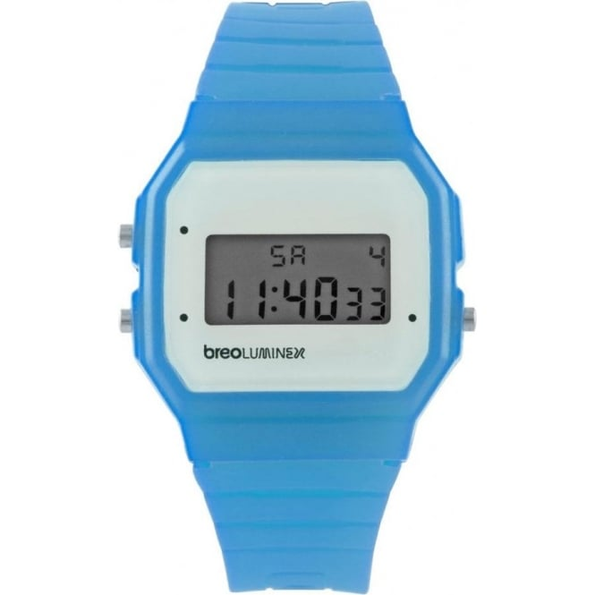Breo Watches Luminex Silicon Watch Blue and White B-TI-LX4