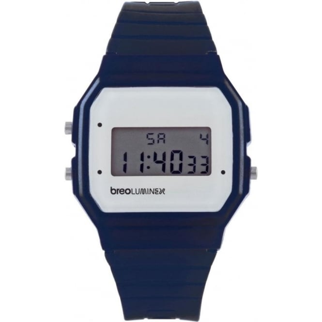 Breo Watches Luminex Silicon Watch Navy and White B-TI-LX11