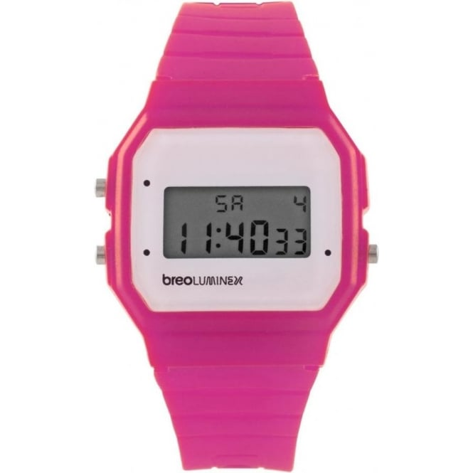 Breo Watches Luminex Silicon Watch Pink and White B-TI-LX38