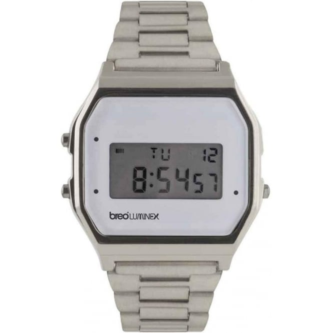 Breo Watches Luminex Metal Watch Silver and White B-TI-LXMS8