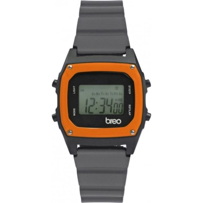 Breo Watches B-TI-BIN91 Binary Grey and Orange Digital Watch