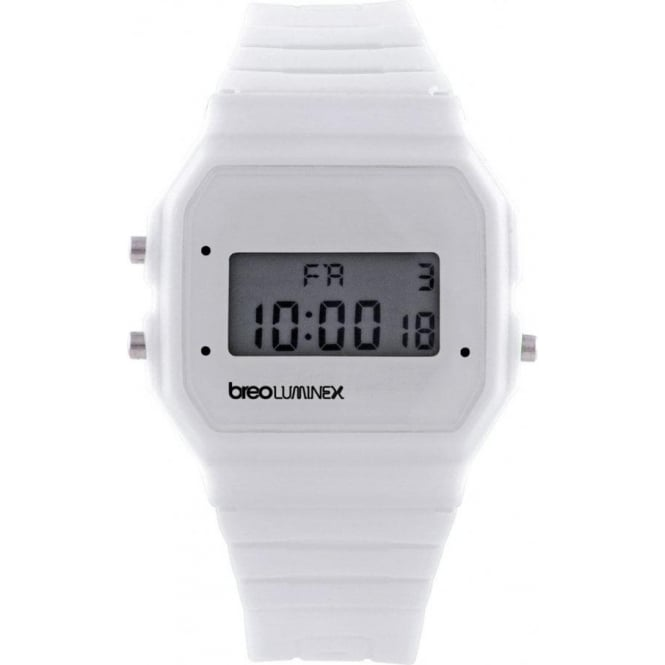 Breo Watches B-TI-LX8 Luminex White Digital Watch
