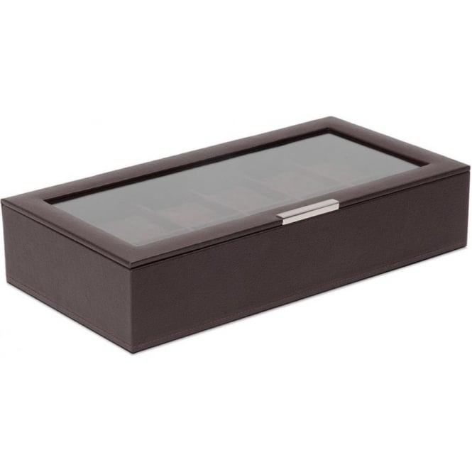 Wolf Designs Brown 12 Piece Watch Tray with Lid
