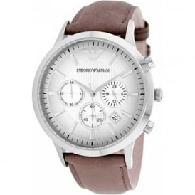 Armani Watches Brown Leather Mens Chronograph Watch AR2471