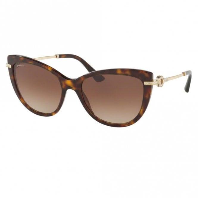 d33cf65ba1 0BV8218B 504 13 55 Dark Brown Havana Ladies Sunglasses