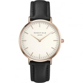 BWBLR-B1 Bowery Rose Gold & Black Leather Women's Watch