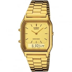 Casio Watches AQ-230GA-9DMQYES Gold Men's Classic Casio Watch